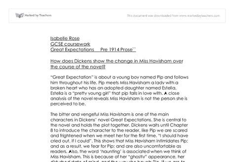 Miss Havisham Essay by Great Expectation How Charles Dickens Shows Miss Havisham Change The Novel Gcse