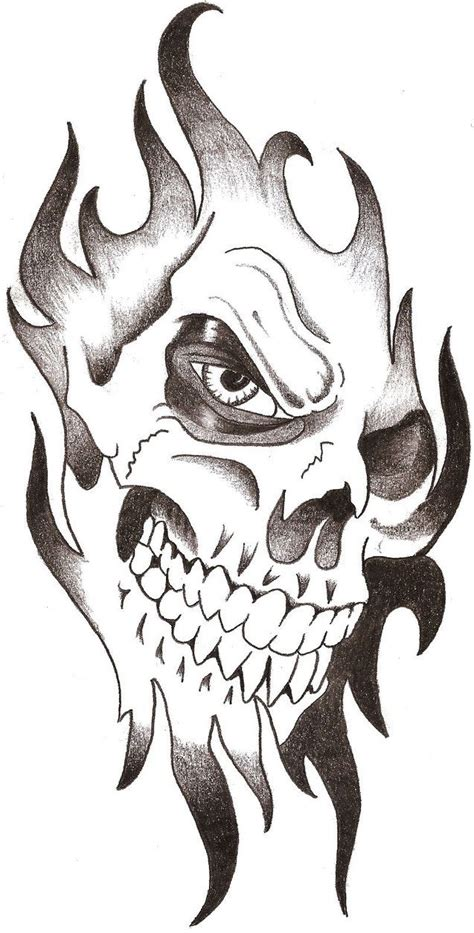 simple skull tattoos skull tribal by thelob on deviantart drawlings and pic