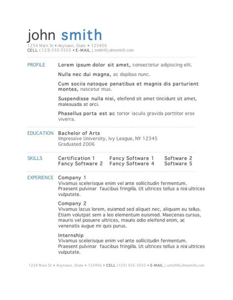 word document resume template 50 free microsoft word resume templates for