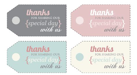 thank you card tag template 5 best images of free printable thank you tags for favors