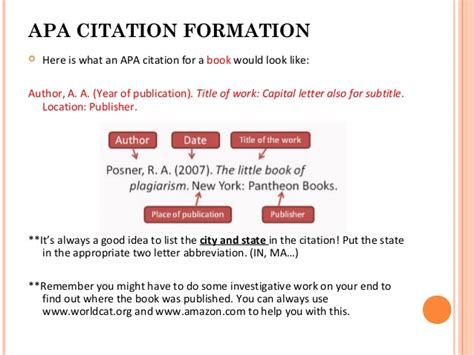 book reference location week 6 apa citation