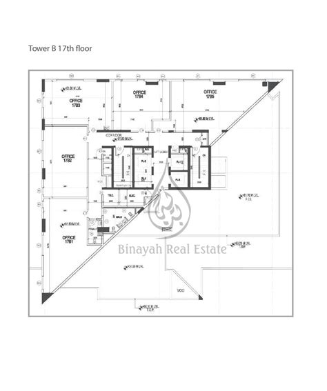 Apartment For Sale Office Space For Rent Properties In Executive Tower B Floor Plans