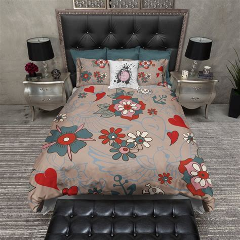 tattoo bedding style duvet bedding sets ink and rags