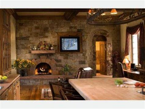 country kitchen fireplace design interior exterior doors