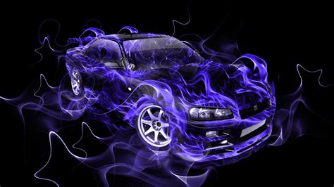 Drift Car Wallpaper Hd Purple Marijuana by Nissan Skyline Gtr R34 Jdm Smoke Abstract Car 2014