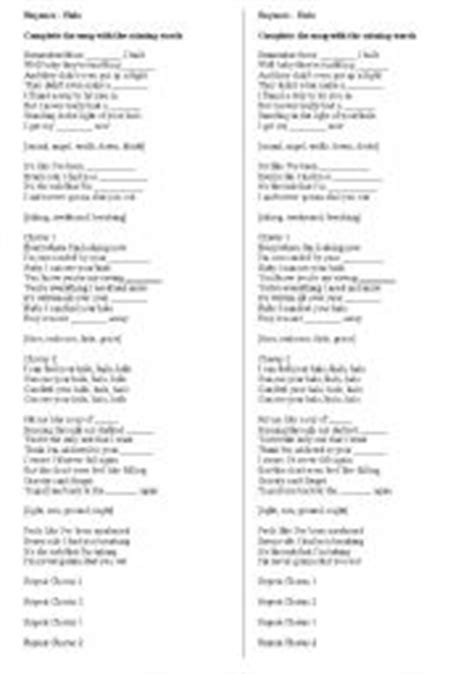printable halo lyrics english teaching worksheets beyonc 233