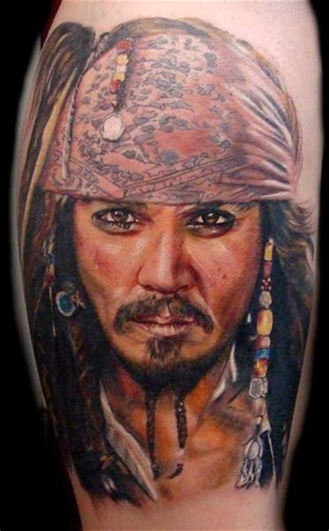 shoulder portrait realistic johnny depp tattoo by ron russo