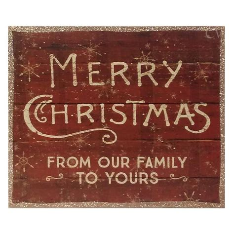 merry christmas   family   box sign country village shoppe