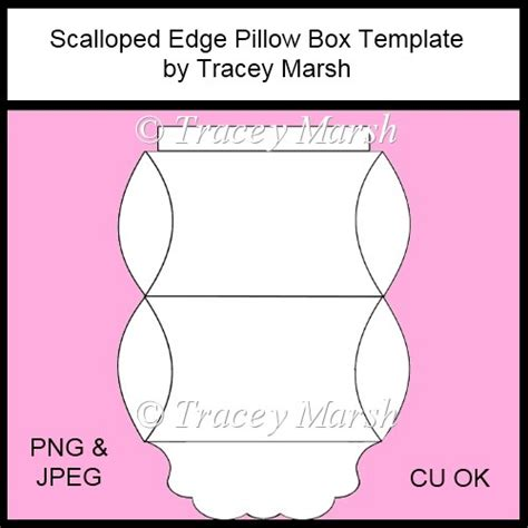 Scalloped Edge Large With Point Card Template by Scalloped Edge Pillow Box Template Cu Ok 163 3 00