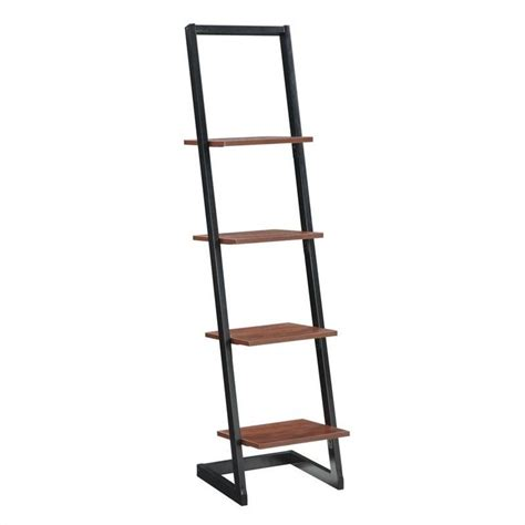 4 tier ladder bookshelf in black and cherry 131499