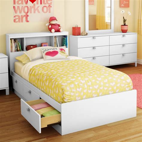 kids storage bed sparkling bookcase storage platform bed kids storage