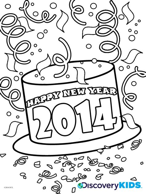 new year coloring pages activity happy new year coloring page discovery