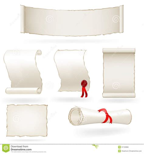 How To Make Paper Scrolls - set of paper scrolls vector illustration royalty free