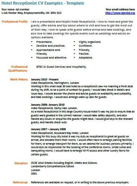 Curriculum Vitae Sle For Receptionist 17 Best Images About On Cover Letters