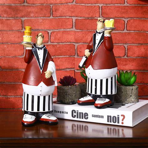 vintage home decor accessories patisserie chef model crafts decorative home decor