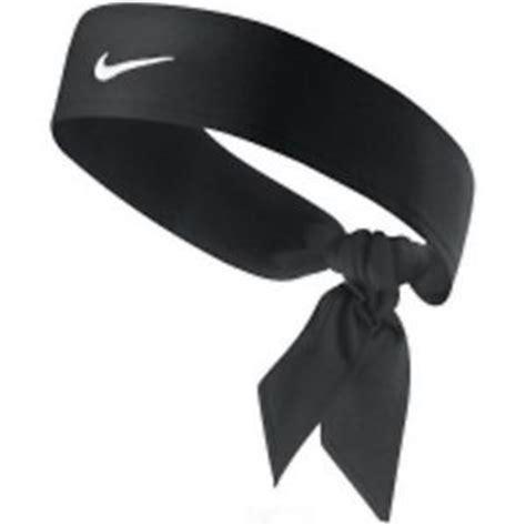 new womens nike tie dri fit black headband tennis