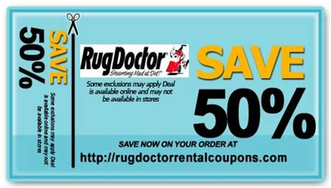 Rug Doctor Printable Coupon by The Rug Doctor Rental Coupons