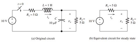 resistor and capacitor in dc circuit capacitor steady state dc analysis inductors and voltage sources electrical engineering