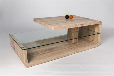 table basse design bois et verre ch 234 ne galati salon