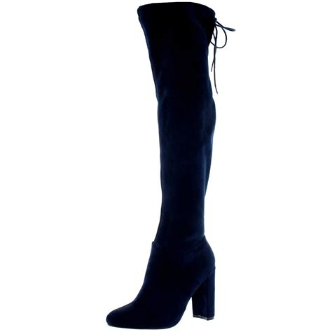 womens wide fit stretch thigh high winter