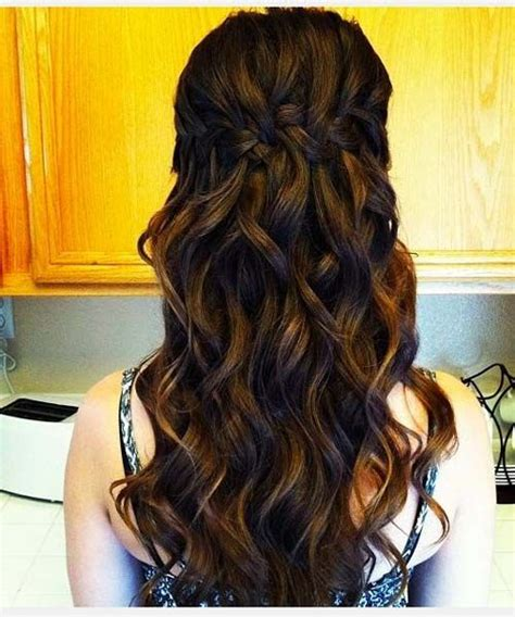 homecoming hairstyles waterfall braid waterfall braided long prom hairstyles 2016 full dose