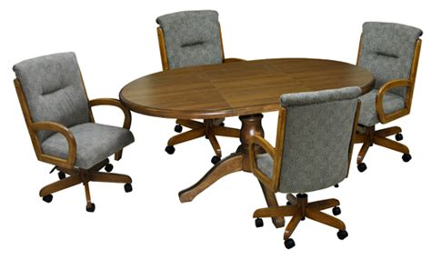 fabric dining chairs with casters gallery