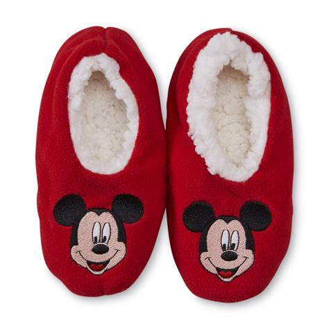 mickey mouse slipper socks disney mickey mouse toddler boy s fleece slipper socks