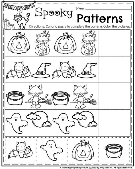 halloween pattern worksheets for kindergarten october preschool worksheets worksheets patterns and school