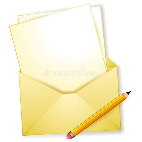 Envelope Pencil blank letter envelope pencil stock photography image