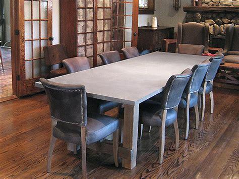 concrete custom rustic contemporary dining table