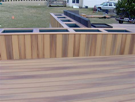 custom deck planters modern deck wilmington by