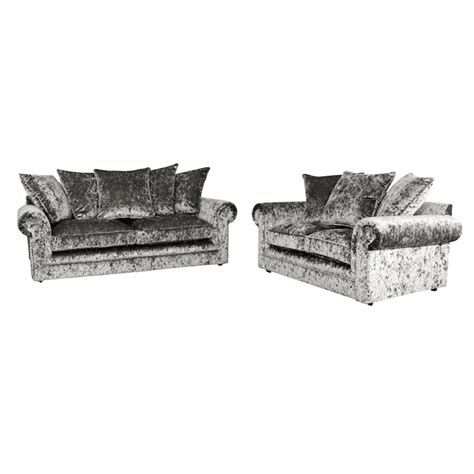 silver velvet chesterfield sofa crushed velvet furniture sofas beds chairs cushions