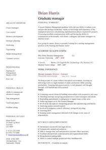 Curriculum Vitae Template Academic by Graduate Cv Template Student Jobs Graduate Jobs Career