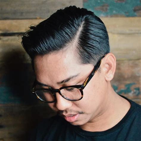 asian male side comb hair comb over haircuts