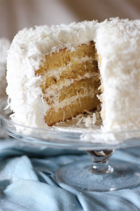 moist fluffy coconut cake butter flour baking soda salt buttermilk coconut milk
