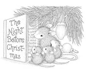 stampendous cling mounted rubber stamp house mouse christmas story