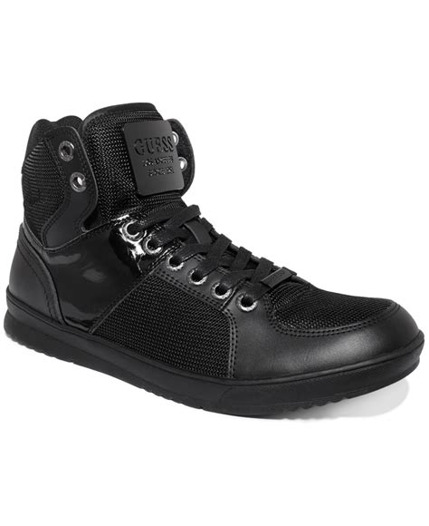 guess s shoes trippy5 sneakers in black for lyst