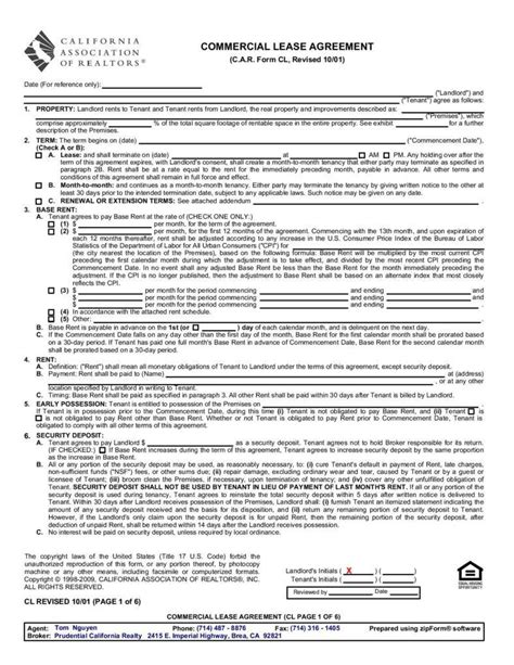 standard commercial lease agreement template 6 ways a lease agreement can protect the landlord free