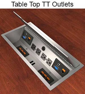 table l with outlet power data outlets customized telecom data