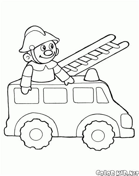 per bambini disegni da colorare giocattolo camion dei pompieri