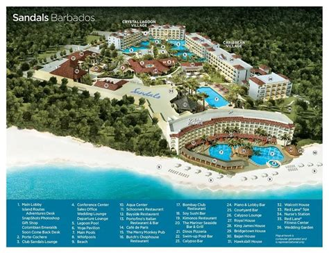 sandals royal caribbean resort map image gallery sandals barbados