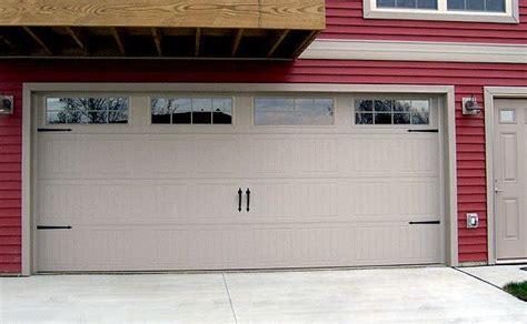 red siding  almond garage door  trim  wayne