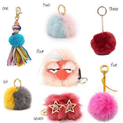 Pompom Charm alternatives to the fendi pom pom bag charms les berlinettes