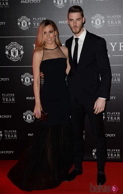 manchester new year gala edurne y david de gea en la gala player of the year 2016