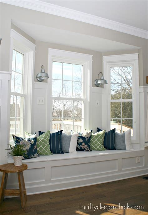 kitchen bay window seating ideas how our diy kitchen renovation is holding up 1 1 2 years later from thrifty decor