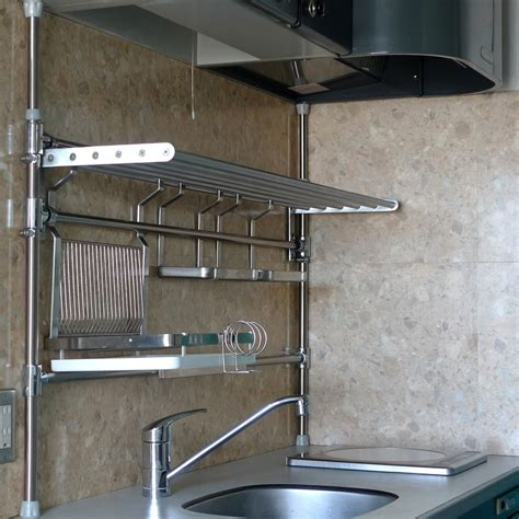 style stainless steel kitchen shelves the homy design