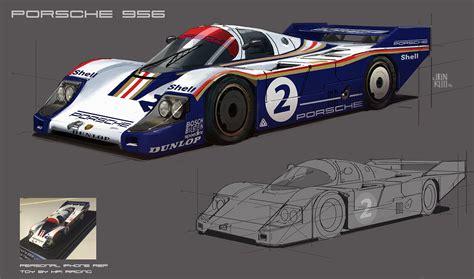 Porsche 956 Sketches Of Performance by Artstation Porsche 956 Jon Kuo