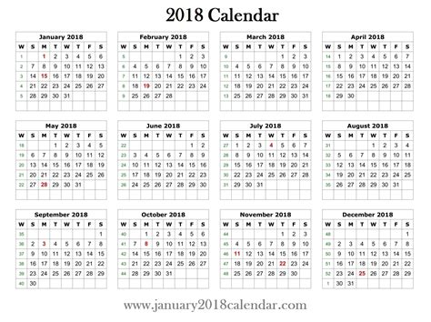 printable calendar yearly 2018 free printable yearly calendars 2018 printable calendar