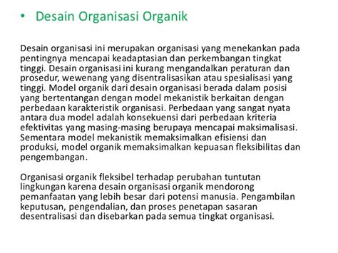 struktur dan desain diperlukan dalam organisasi desain dan struktur organisasi