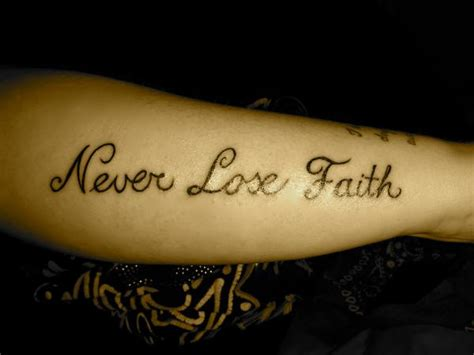 never lose hope tattoo never lose faith on sleeve